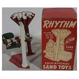 Tin Sand Toy With Original Box