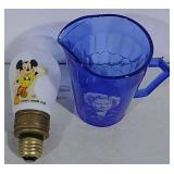 Mickey Mouse Light Bulb & Shirley Temple Cup