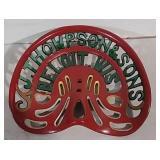 J.Thompson & Sons Beloit, WI Cast Iron Seat