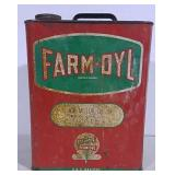 Farm-Oyl Motor Oil Can