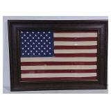 American Flag In Frame