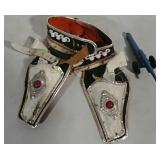 Double Cap Guns w/Holster & Toy Cannon