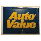 Plastic Auto Value sign