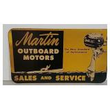 DST Martin Outboard Motor sign