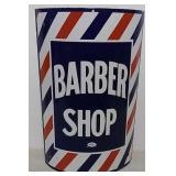 SSP Barber Shop curved sign
