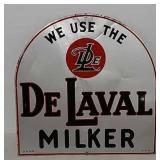 SS DeLaval Milker metal tombstone sign