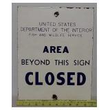 SSP Dept of Interior sign