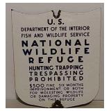 SSP Heavy gauge metal NWR sign
