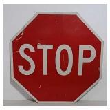 SS aluminum stop sign