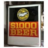 DS Miller $1000 beer lighted sign