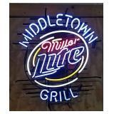 Neon Miller Lite sign