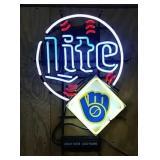 Neon Milwaukee Brewers Lite sign
