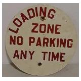 SS No parking Loading Zone metal sign