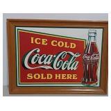 SST framed Coca-Cola sign