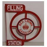 DST Red Crown Gasoline filling station flange sign