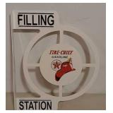 DST Fire-Chief filling station flange sign