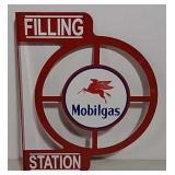 DST Mobilgas filling station flanged sign