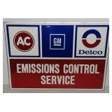 SST Embossed Emissions Control Service sign