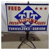 DST Triple T wind sign with stand