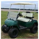 Yamaha lifted gasoline golf cart