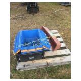 LOT OF (4) POLY TOOL BINS & PLANTER BOX