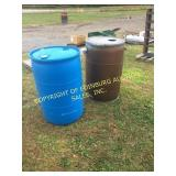 BLUE POLY DRUM & POLY RAIN BARREL
