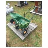 (1) SCOTTS SEEDER, (1) SCOTTS TOWABLE SEEDER