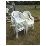 LOT OF WHITE POLY CHAIRS