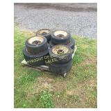 (8) MISC FORK LIFT TIRES