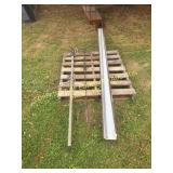 (2) BROWN GUTTERS, CHIMNEY SWEEP,PLANT HANGER &