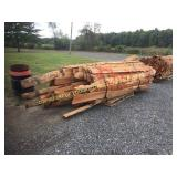 PALLET OF CHERRY SLAB WOOD