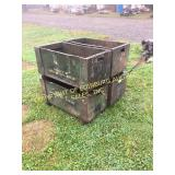 (4) VINTAGE METAL STACKABLE STORAGE BINS