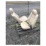 (2) BROWN LEATHER MAZDA BUCKET SEATS