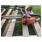 "STIHL 011AV CHAINSAW W/ 12"" BAR"
