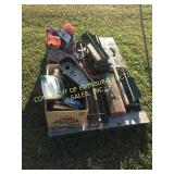 PALLET OF MISC TOOLS & TOOLBOXES