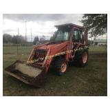 KUBOTA L48 4X4 BACKHOE LOADER W/ ENCLOSED CAB