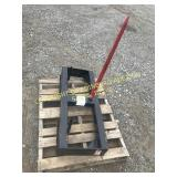 NEW BALE SPEAR ATTACHMENT FOR TRACTOR/SKID STEER