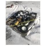 PALLET OF MISC MYERS SNOW PLOW PARTS, PUMP, MISC