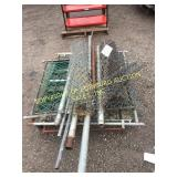LOT OF FENCING AND FENCE POSTS