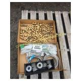 (2) BOX OF MISC PLUMBING  PARTS  BRASS FITTINGS