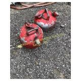 (2) RED METAL SAFETY GAS CANS