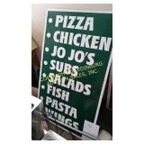 ALUMINUM FOOD SIGN