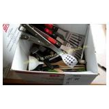 BOX OF KITCHEN UTENSILS