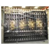 BRAND NEW HEAVY DUTY WROUGHT IRON DRIVEWAY GATE
