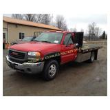 2006 GMC 3500 4X4 FLAT BED DUAL WHEEL
