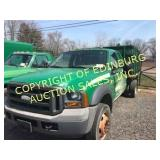 2005 FORD F-550 W/ DUMPING FLATBED