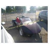 SPORTS CAR MOUNTED ON GOLF CART FRAME - GAS MOTOR