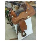 "Western Saddle With Bridle, 15.5"" Seat"
