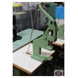 Eyelet Setting Kick Press Machine