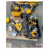 DeWalt tools 4 pcs, air compressor 6.0 gallons,